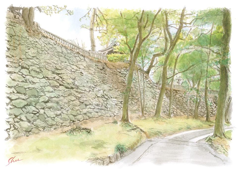 唐沢山城跡 本丸石垣